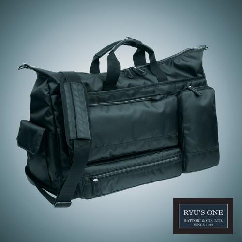 RYU'S ONE 多機能 ボストン ビジネスバッグ A3対応 ブラック ネイビー リューズワン AD 102503