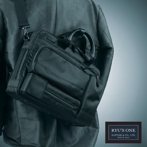RYU'S ONE 多機能 メッセンジャー ビジネスバッグ A4対応 ブラック ネイビー リューズワン AD 102499
