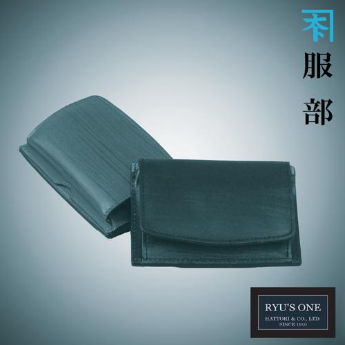 RYU'S ONE 牛革 木目 マルチコインケース ブラック ブラウン リューズワン WD 154033 箱付