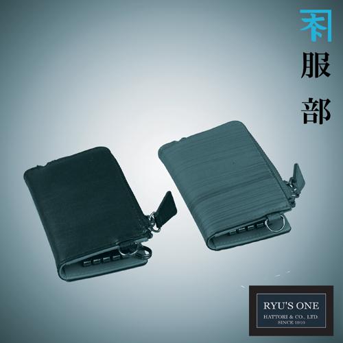 RYU'S ONE 牛革 木目 キーケース ブラック ブラウン リューズワン WD 154035 箱付