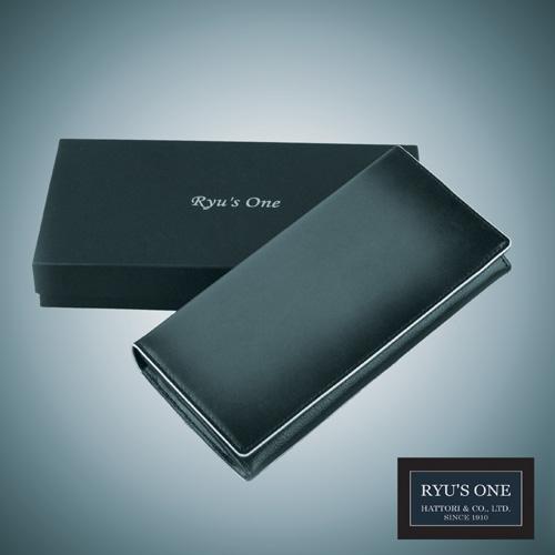 RYU'S ONE 牛革 グラデーション 長財布 ネイビー グリーン レッド リューズワン GG 154004 箱付