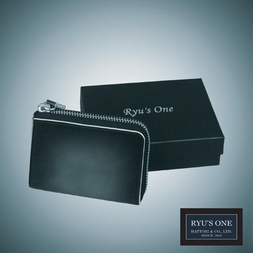 RYU'S ONE 牛革 グラデーション キーケース ネイビー 箱付 GG 購入 グリーン 154011 毎日がバーゲンセール レッド リューズワン