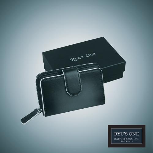 RYU'S お洒落 ONE 牛革 新色 グラデーション コイン キーケース ネイビー GG グリーン 箱付 154012 レッド リューズワン