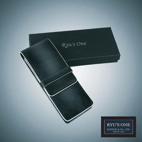 RYU'S ONE セール商品 牛革 グラデーション ペンケース ネイビー ファクトリーアウトレット 154014 レッド 箱付 GG リューズワン グリーン