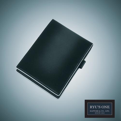 RYU'S 卸直営 ONE 牛革 グラデーションメモ帳カバー メモ帳#13 A6対応 ネイビー GG 新作 人気 レッド グリーン 箱付 154018 リューズワン