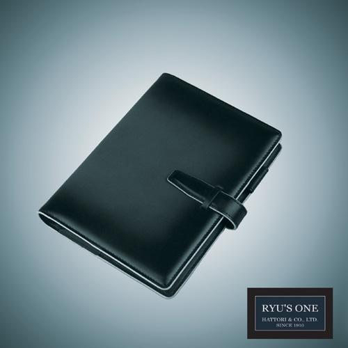 RYU'S ONE 牛革 グラデーション システム手帳 バイブル リング径15mm ネイビー グリーン レッド リューズワン GG 154021 箱付
