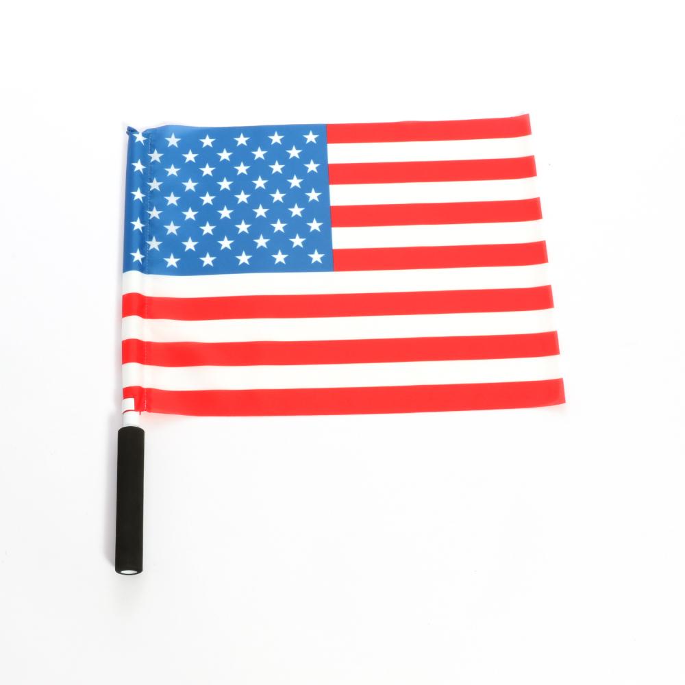 スポーツ ラグビー サッカーなど 応援に最適なグリップ付手旗 正規取扱店 爆買い送料無料 応援旗 国名:アメリカ ポンジ 40x30cm