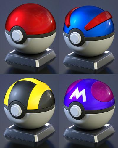 万代神奇宝贝球收集☆全4种安排★神奇宝贝巨兽球