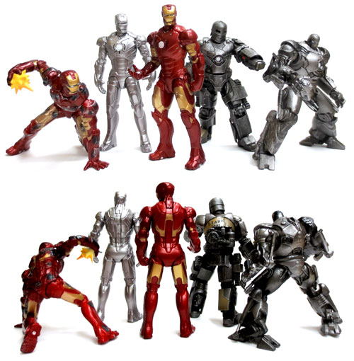 Marine Hall capsules Q characters IRON MAN Iron Man armor collection of 5 pieces