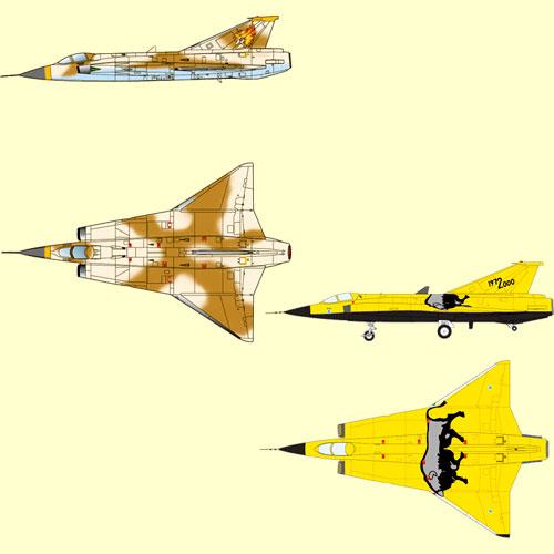 F 1 / 144 area 88 J-35-Kazama true & Finland air force J-35S-last flight special coating machines