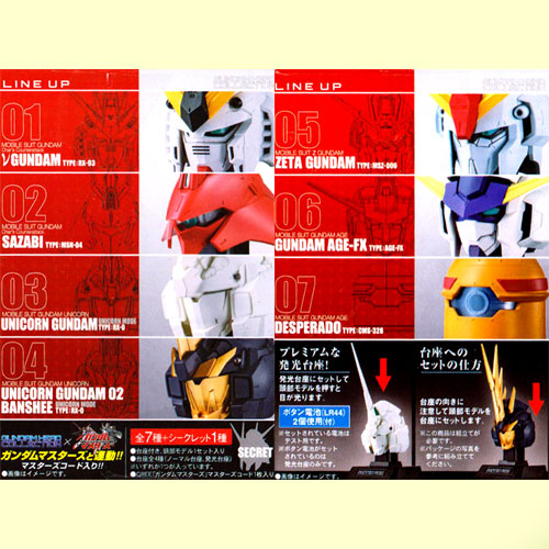 Bandai mask collection Gundam head Collection Vol.3 Newtype determination 8 kinds set +