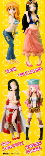 Bandai half-age characters ONE PIECE one piece-girls party!-version... into 4 pieces