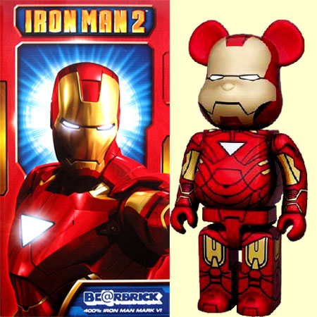 迈迪康姆BE@RBRICK beaburikku IRON MAN2铁人标记VI 400%