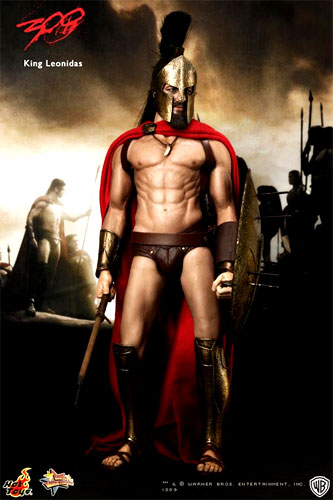 Hot toys movie masterpiece 300 --- Spartan King Leonidas 1 / 6 scale figure