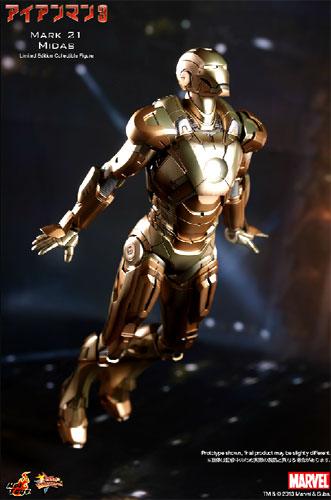Iron Man hot toys movie masterpiece Iron Man 3 IRONMAN mark 21 (MIDAS) 1 /  6 scale fully poseable figure ☆ ★