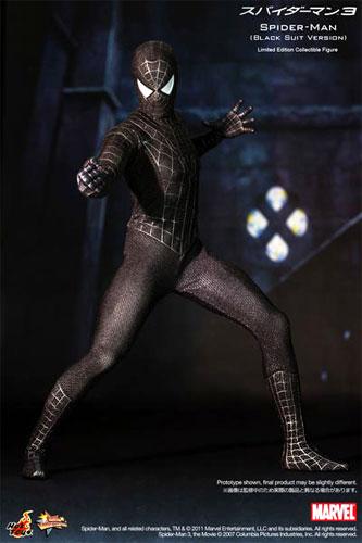 ホットトイズ ムービー・マスターピース 『スパイダーマン3』 スパイダーマン(ブラック・コスチューム版) 1/6スケールフィギュア