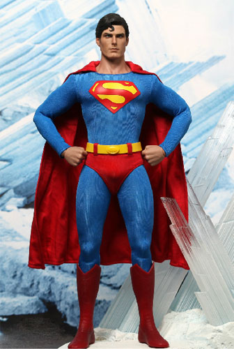 "Hot toys movie masterpiece ""superman"" superman [with bonus accessories] 1/6 scale figure skating"