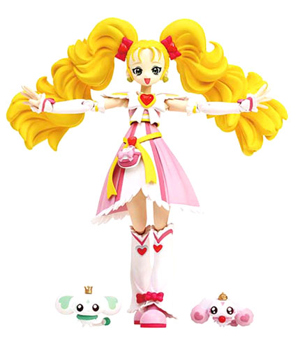 Has two Bandai S.H.Figuarts cure MaxHeart shiny luminous