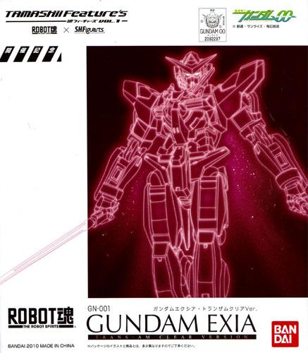 And Bandai ROBOT spirit Gundam ExIA TRANS am clear ver....