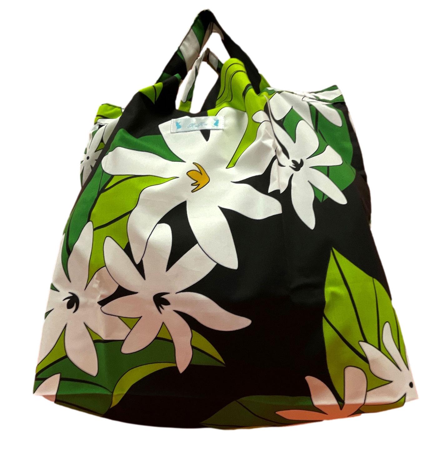 人気のマイバック エコバックもハワイアンで気分を上げよう KuKuiの商品は全て日本縫製です ネコポス対応商品 KuKui ピタッとバッグ 021 エコバッグ マイバッグ ハワイアン ショッピングバッグ コンパクト 日本限定 折り畳み ハワイアン雑貨 『1年保証』 かわいい 洗える マチ付き