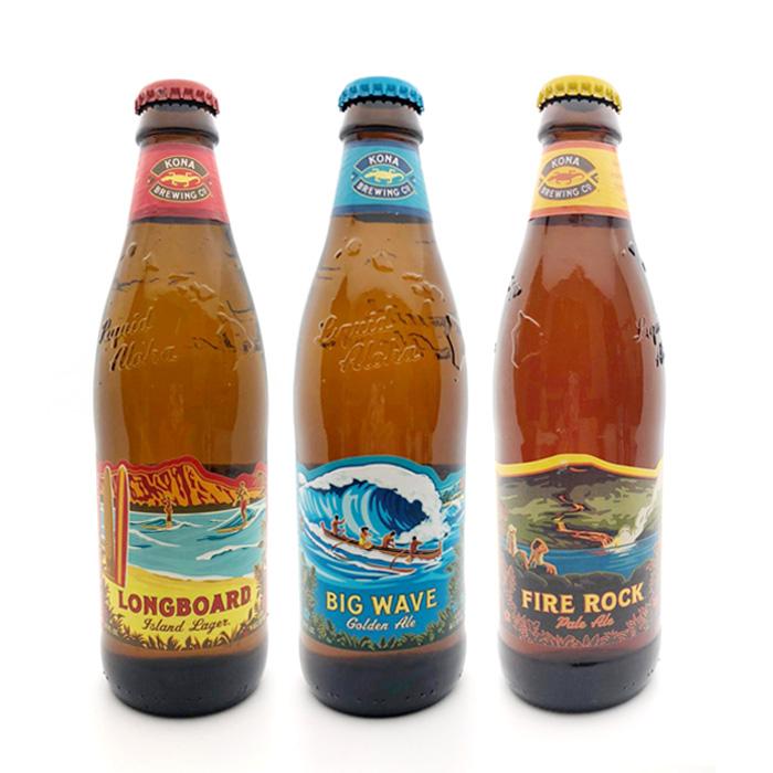 激安挑戦中 ハワイで最も人気のクラフトビール 年中無休 KONA BREWING Co お酒 コナブリューイング コナビール 355ml 1本 麦芽100%