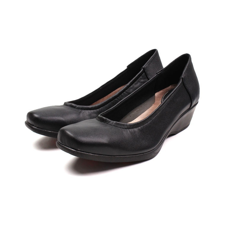 c1d4192535c Comfort shoes rakuchin R-PREMIUM pain pumps not ladies black walkable heel  wedge sole low heel lame ceremonial commuter shoe square toe 544-460