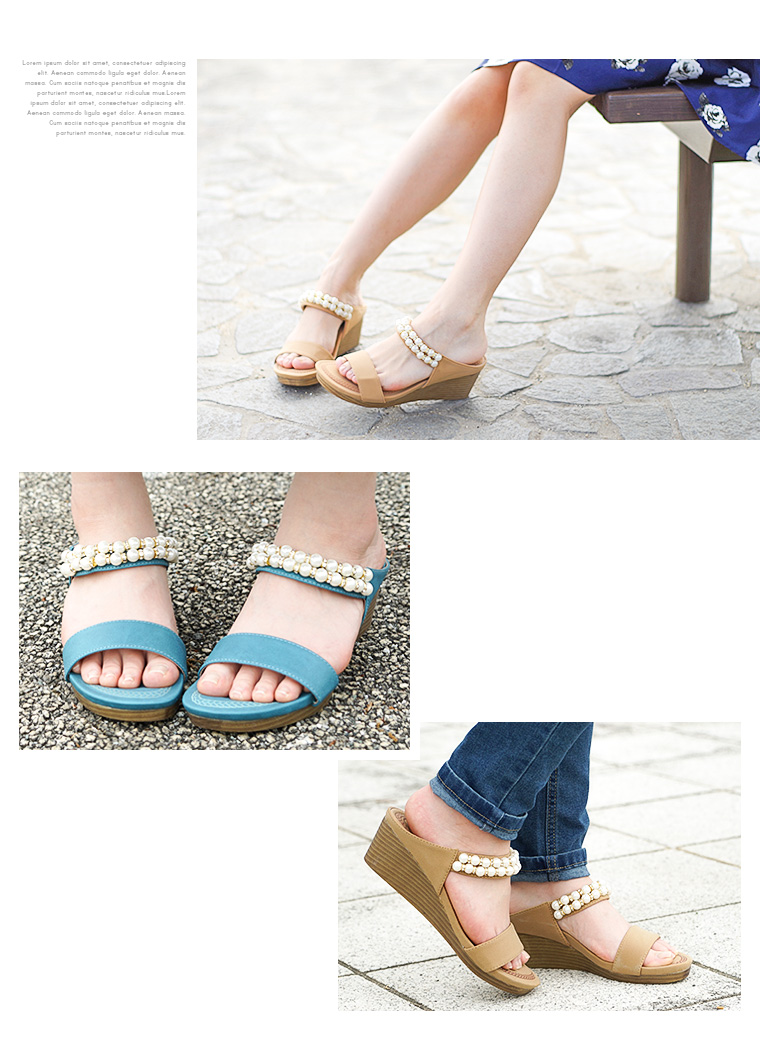 032f4c84d ... Love venus marshmallow fitting thickness bottom wedge sole sandals  Lady's walk and bijou wedge sole strap ...