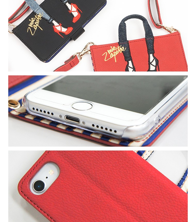 low priced 7ae6b f2168 Shoulder strap smartphone cover black b6596 with the mis zapatos iphone  case notebook type pretty smartphone case iPhone6 iPhone6s iPhone7 eyephone  6 ...