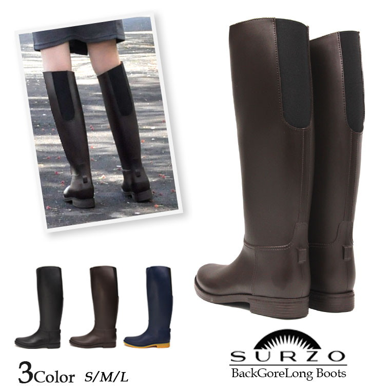 c35559bdae4 SURZO perfection waterproofing back Gore rain boots lady's long snow boot  Lady's waterproofing cold protection snow boots boots snowshoes  snow-covered ...