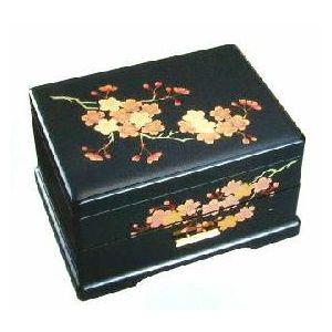 【父の日】会津漆器宝石箱オルゴール(B318AB )