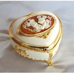 (Mickey, Minnie) heart-shaped jewelry box music CB148 music box