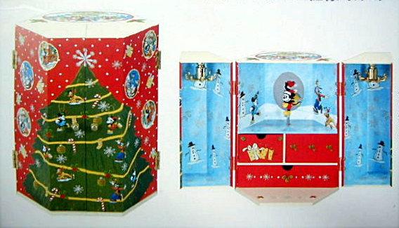 定番 特別セール品 X'mas.Disneyオルゴール クリスマスチェスト型-CD163S