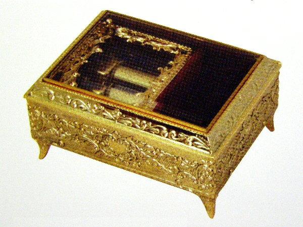 〔アンチモニー〕高級オルゴール『30弁オルフェウス』金色 EX123