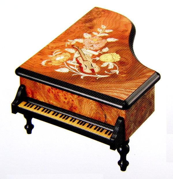 【象嵌】高級オルゴール『30弁オルフェウス』グランドピアノ EX196