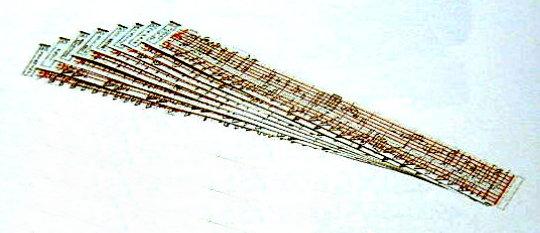 音符印刷カード 穴なしカード:音符に沿い穴明けできます 〔別売〕オルガニート20演奏用曲入りカード 15枚セット お洒落 デポー
