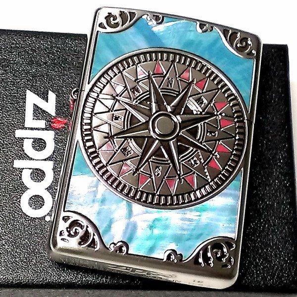 ZIPPO ライター ギフト ライター シェル アンティークコンパス シェル 両面加工 シルバーイブシ 天然貝象嵌 かっこいい ジッポ おしゃれ メンズ レディース ギフト, あっとあるん:0d6d55b9 --- partnercom.fr