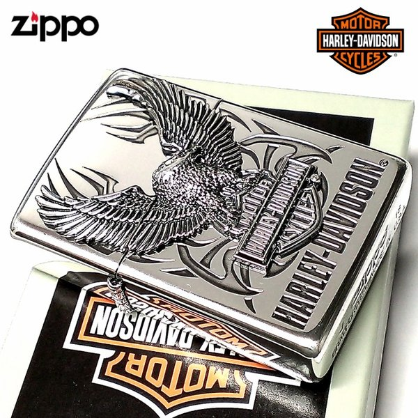 ZIPPO ライター ハーレーダビッドソン ジッポ シルバー ビッグメタル イーグル 鷲 HARLEY-DAVIDSON 日本国内限定モデル かっこいい メンズ ギフト