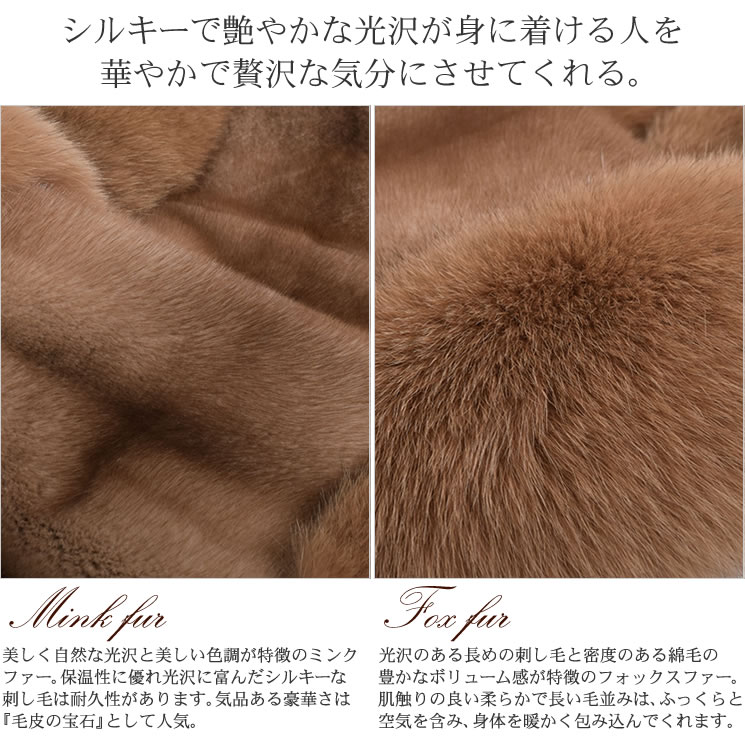 ce19ce21daab5 Hayashiguchi  SAGA mink  amp  Fox Cape scarf (M8161)