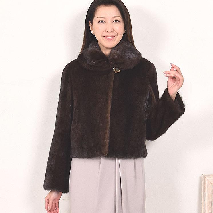 SAGA FURS スカンブラウンショート ジャケット (M9926)送料無料!! 毛皮 ファー 女性用 レデイース SAGA ミンク MINK コート coat プレゼント ギフト ミセス ファッション 40代 50代