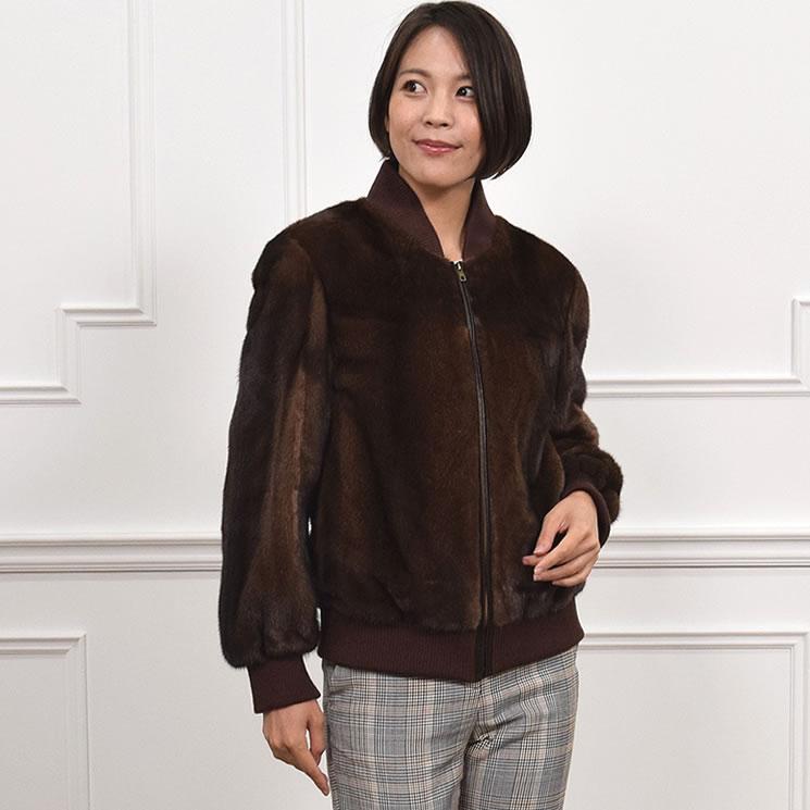 SAGA ミンク MA-1 ジャケット ショート丈 (MJ3590)毛皮 ファー 女性用 レデイース SAGA ミンク MINK コート coat プレゼント ギフト ミセス ファッション 40代 50代