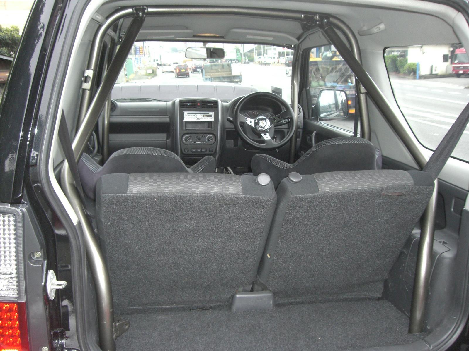 無料サンプルOK ジムニーJB23 HB1stロールバー23タイプF基本スチール黒塗り6点式 高級