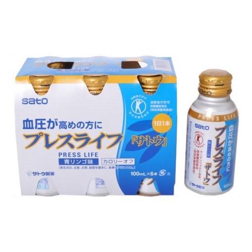 血圧が高めの方に プレスライフ 100ml×6本×5セット 特定保健用食品 佐藤製薬 選択 生活習慣病改善 血圧 入手困難