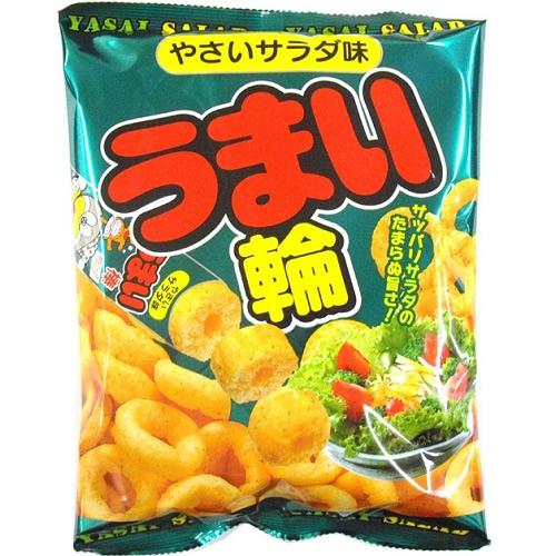 (取り寄せ商品 納期1~2週間)うまい輪 やさいサラダ味 【75g×12個】(リスカ)