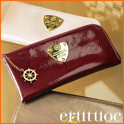 【ATAO】長財布とは思えない薄さくったり柔らかいエナメルレザーのロングウォレット Limoリモerutuoc限定舵チャームバージョン
