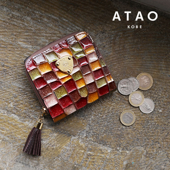 【ATAO】(アタオ)ステンドグラスのようなイタリア革の二つ折り財布(ウォレット)Meri vitro(メリヴィトロ)【最短当日、最長翌営業日出荷】