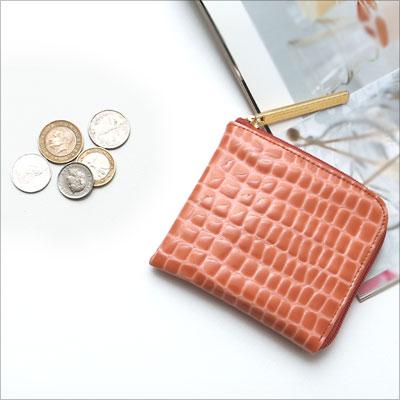 【ATAO】limoルアンハーフ(エナメルレザー)宝石のようにきらめくコンパクト財布 355-1105