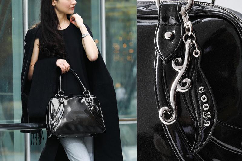 【cooga】リニューアルver.「やっぱり、黒が好き」な女性のためのロングセラーボストンMajolica(マジョリカ) Luxe Black(リュクスブラック) A4 軽量 お仕事 レディース ビジネス 間仕切り 自立