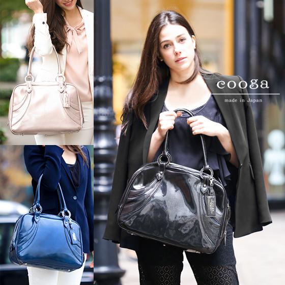 【cooga】理想のお仕事バッグを探す旅に終止符を。軽さ、色、サイズ、「好き」で選びたいA4ボストンバッグMia(ミア)リュクスブラック サクラ ネイビーブルー 日本製 通勤