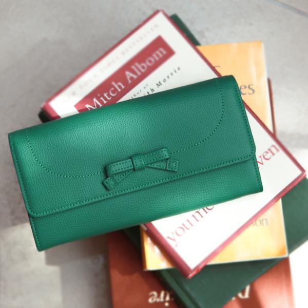 【傳濱野】monna wallet(モーナ ウォレット)グレースグリーン