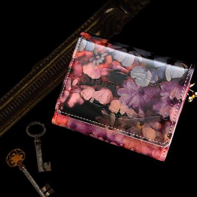 【FRUTTI】絵画のようなレザーで仕立てるキーケースChiave Alice(キアーヴェ アリス)鍵入れ ピンク エナメル フルッティ 本革 革 レディース FRUTTI DI BOSCO フルッティ ディ ボスコ